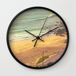 surfers beach. ericeira Wall Clock