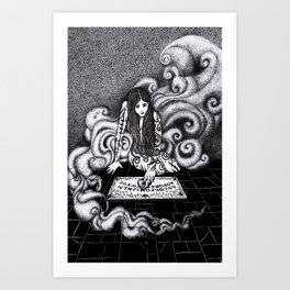 Beauty and the Board / Beauty and the Beast Art Print