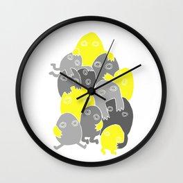Lumps (Yellow & Grey) Wall Clock