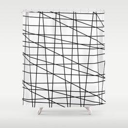 Gossamer. Black and white.2 Shower Curtain