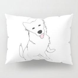 White Pupper Pillow Sham
