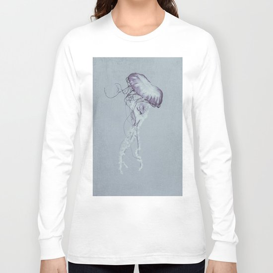 Jellyfish Black and White Long Sleeve T-shirt