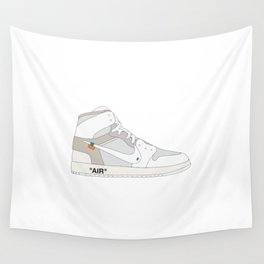 "N I K E AIR JORDAN THE 10: AIR JORDAN 1 ""OFF-WHITE"" White Wall Tapestry"