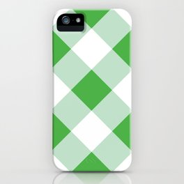 Gingham - Green iPhone Case