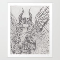 angel or demon Art Print