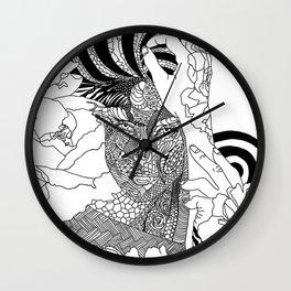 Inked Parisian Wall Clock