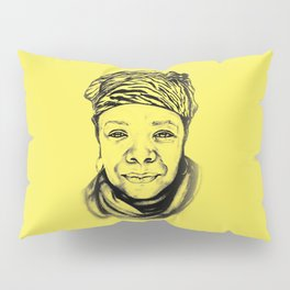 Maya Angelou - (yellow) Sketch to Digital Pillow Sham