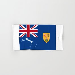 Turks and Caicos Islands TCI Flag with Island Maps Hand & Bath Towel