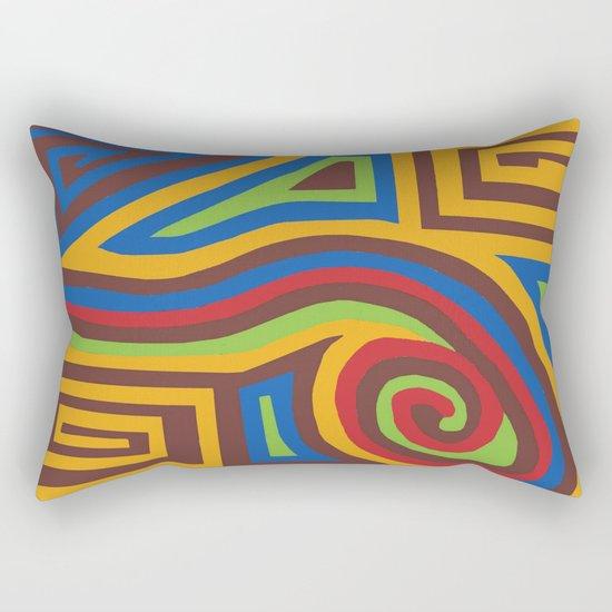 Red Swirl Rectangular Pillow