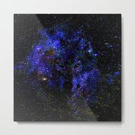 Wolf Constellation Metal Print