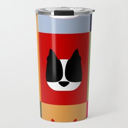 Boston Terrier (BoTe) Pop Art Style Travel Mug
