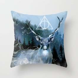 My Patronus is a Stag Throw Pillow