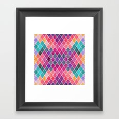 Watercolor Geometric Pattern Framed Art Print