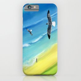 Birds view above sea. iPhone Case