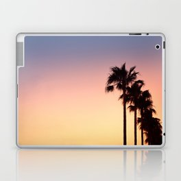 Row of Palm Trees at Sunset on Mallorca, Balearic Islands, Spain Laptop & iPad Skin