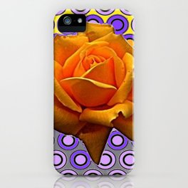 GOLDEN GARDEN ROSE MODERN ABSTRACT iPhone Case