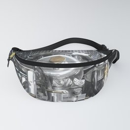 steel And Brass Brass - Vintage Sports Car Engine Fanny Pack