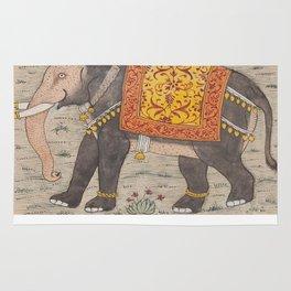 Vintage Decorated Elephant Painting (17th Century) Rug