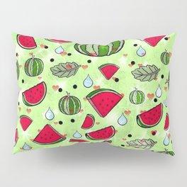 Melon popart by Nico Bielow Pillow Sham