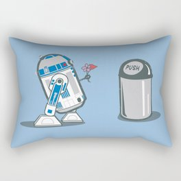 Robot Crush Rectangular Pillow