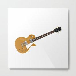 Gold Electric Guitar Metal Print