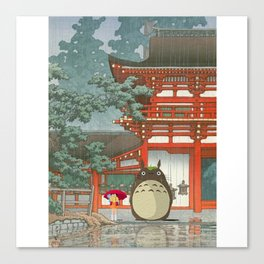 Mihazaki Meet KAWASE HASUI Canvas Print