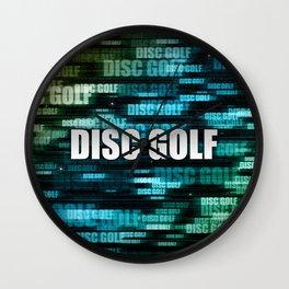 Disc Golf Wall Clock