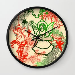 singing angels with scrolls Wall Clock