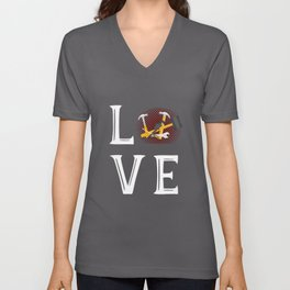 Steinmetz Love - bricklayer, craft Unisex V-Neck
