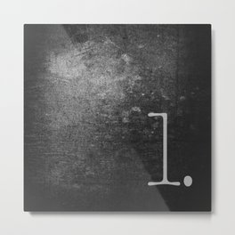 NUMBER 1 BLACK Metal Print