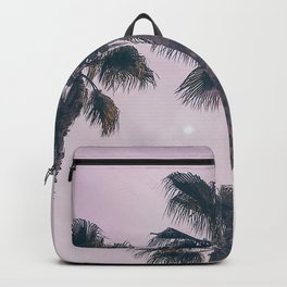 Palm Tree Art Print {2 of 3} | Magenta Pastels Topical Beach Plant Nature Vacation Sun Vibes Artwork Backpack
