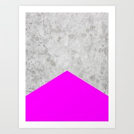 Concrete Arrow - Neon Purple #728 Art Print