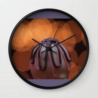 bon iver Wall Clocks featuring Bon Bon by kstar