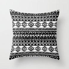 TRIBAL MONOCHROME Throw Pillow