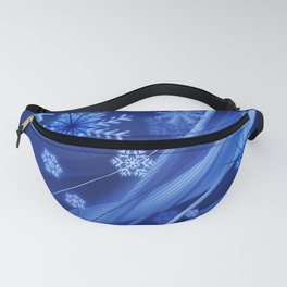 Blue Snowflakes Winter Fanny Pack