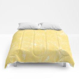 Flaxen Yellow Comforters