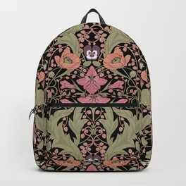 Spring Pattern with Poppy Flowers and Gladioli II Backpack