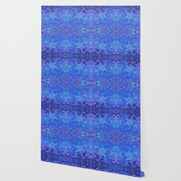 Blue Lagoon Abstract Watercolor Wallpaper