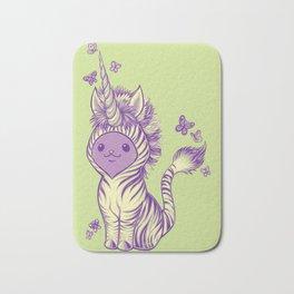 Lilac Cat Wears Tibracorn Onesie Bath Mat