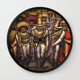 From the Dictatorship of Porfirio Díaz to the Revolution, The People in Arms by David Siqueiros Wall Clock