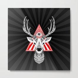Magical Deer Metal Print