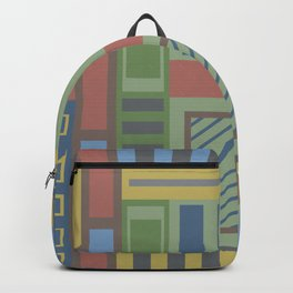Geometric abstract in trendy colors Backpack