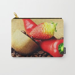 Coffee beans Kivi strawberry pepper Carry-All Pouch