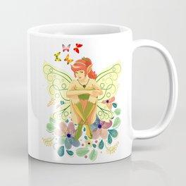 Fairy sitting on flowers Coffee Mug