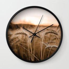 Sunset on the Palouse Wall Clock