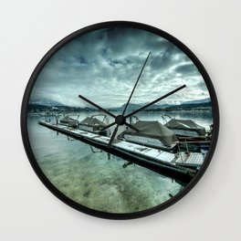 Lake Lucerne Jetty Wall Clock