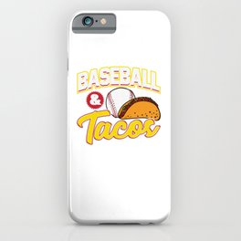 Baseball & Tacos Funny Athlete Taco Obsessed iPhone Case