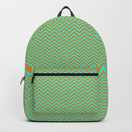Chevrons #9 Blue and Orange Backpack