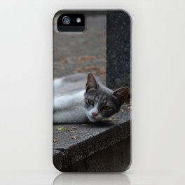 Mom and son iPhone Case