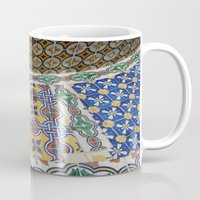 mexican Mugs featuring Mexican Tiles by Renee Trudell